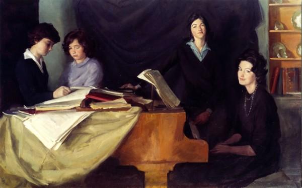 Charlotte, Caroline, Antonia and Sarah William, New Zealand, 1960