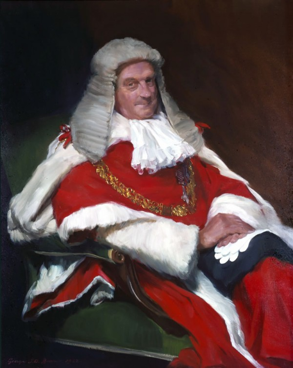 Lord Lane, A.F.C., Lord Chief Justice of England, 1982