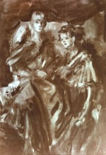 Nicky and Charlotte Howorth, 1984 - sketch