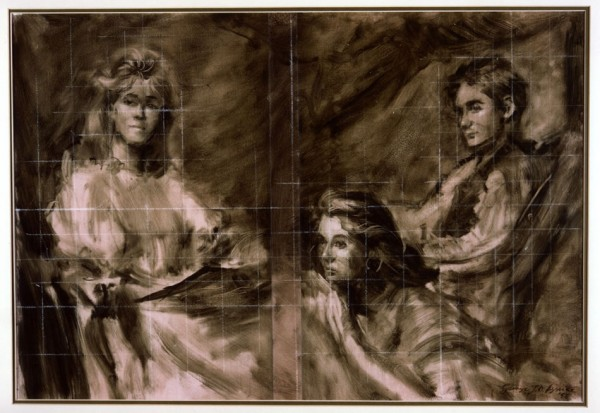 The Cooke Children, 1987 - brush study